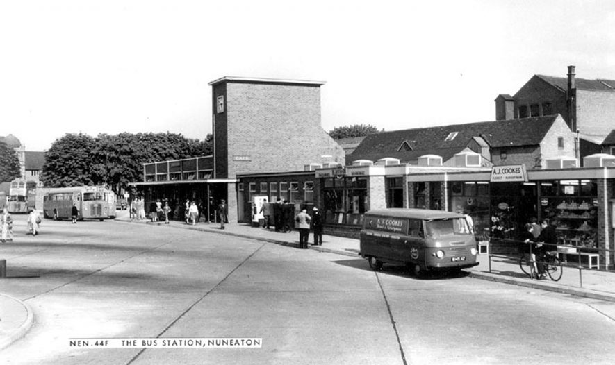 Nuneaton Bus Station, Harefield Road.  1960s |  IMAGE LOCATION: (Warwickshire County Record Office)