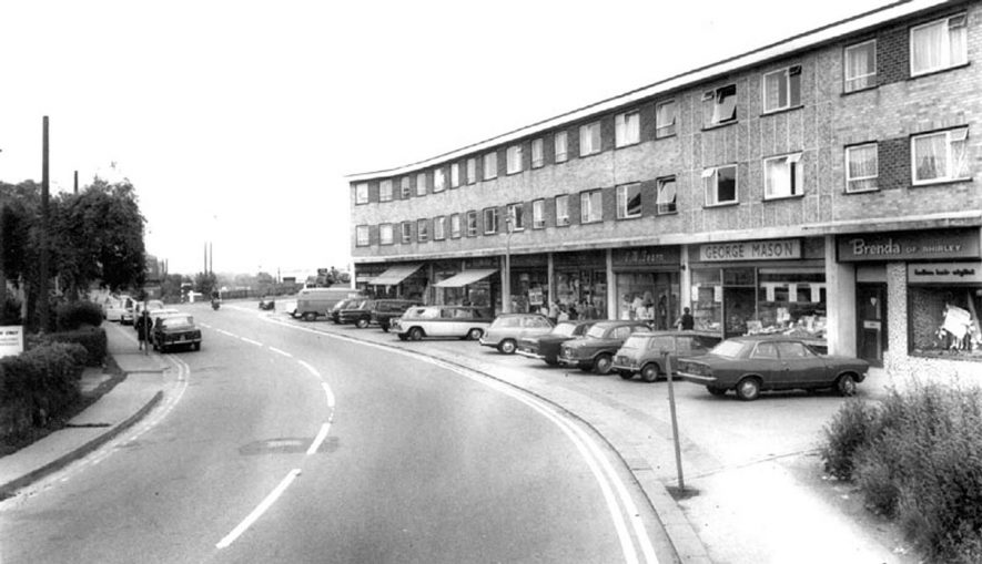 Water Orton shopping precinct.  1960s
