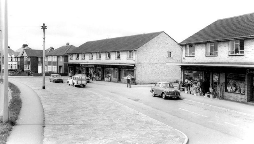 Whitnash shopping centre.  1960s |  IMAGE LOCATION: (Warwickshire County Record Office)