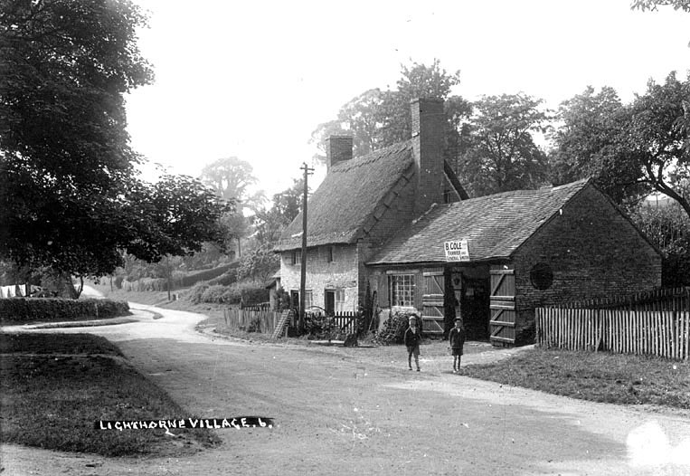 The smithy of B. Cole, Farrier and General Smith, Lighthorne.  1930s |  IMAGE LOCATION: (Warwickshire County Record Office)