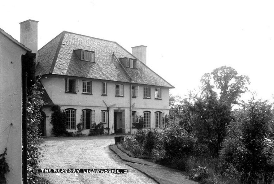 Front of The new Vicarage, Lighthorne.  1930s