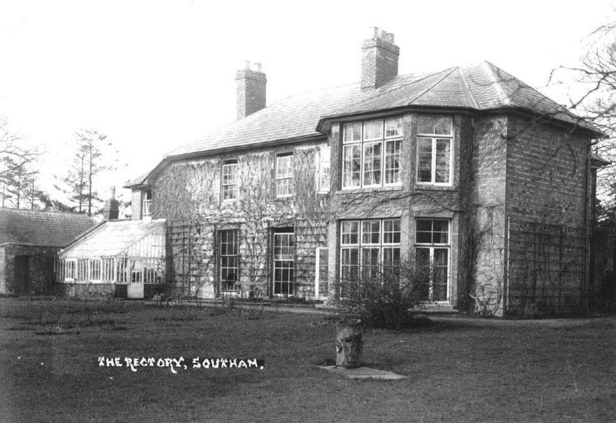Rear view of The Rectory, Southam.  1930s |  IMAGE LOCATION: (Warwickshire County Record Office)