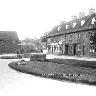 Stretton on Dunsmore.  Terraced houses and general store