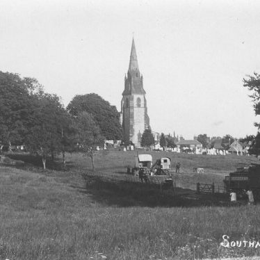 Southam.  Church, fields