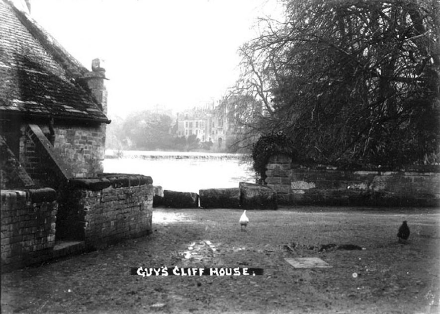 Guy's Cliffe House, part of Saxon Mill and mill pond, Warwick.  1930s |  IMAGE LOCATION: (Warwickshire County Record Office)