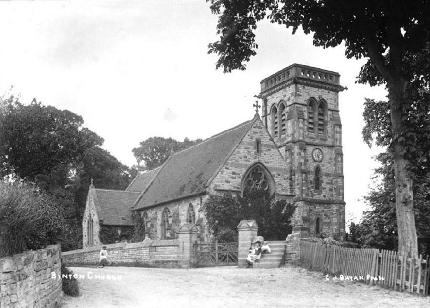 Binton Parish Church.  1900s |  IMAGE LOCATION: (Warwickshire County Record Office)