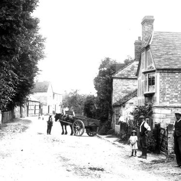 Ardens Grafton.  Horse and cart in village