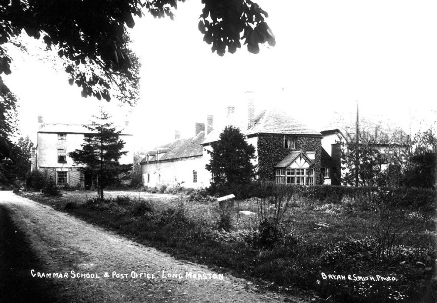 Grammar School and Post Office, Long Marston.  1900s    IMAGE LOCATION: (Warwickshire County Record Office)