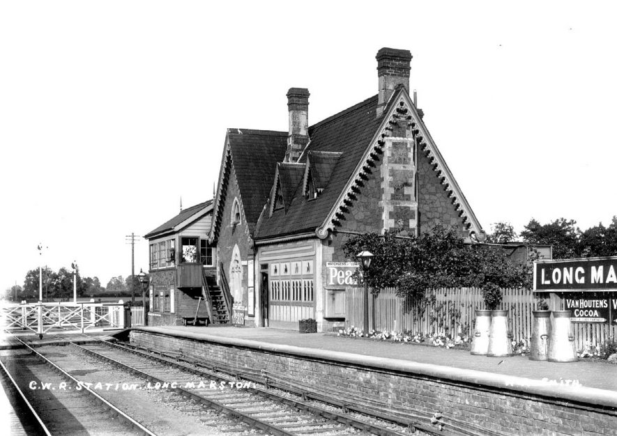 Long Marston Railway Station.  1900s |  IMAGE LOCATION: (Warwickshire County Record Office)