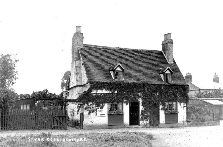 The Silver Cock cafe and tearooms at Shottery.  1900s |  IMAGE LOCATION: (Warwickshire County Record Office)