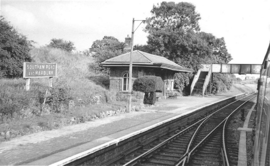 Southam Road & Harbury Railway Station. Taken from a passing train looking towards Banbury in August 1959. |  IMAGE LOCATION: (Warwickshire County Record Office)