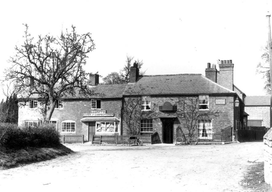 The Bell Inn and E.C. Griffin, Baker and Confectioner.  Welford on Avon.  1900s |  IMAGE LOCATION: (Warwickshire County Record Office)