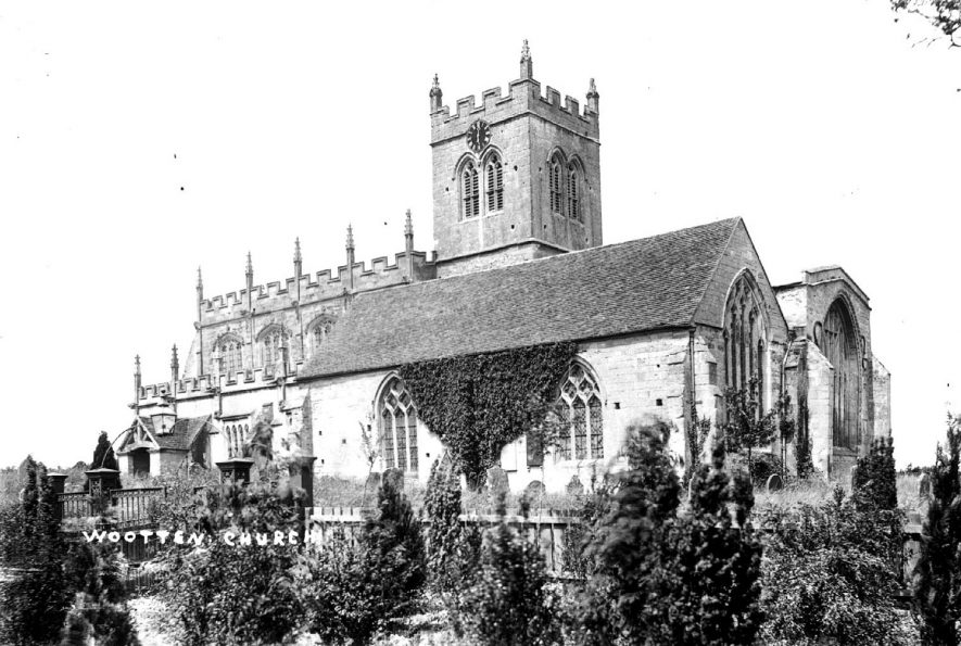 The church of St Peter at Wootton Wawen.  1900s |  IMAGE LOCATION: (Warwickshire County Record Office)