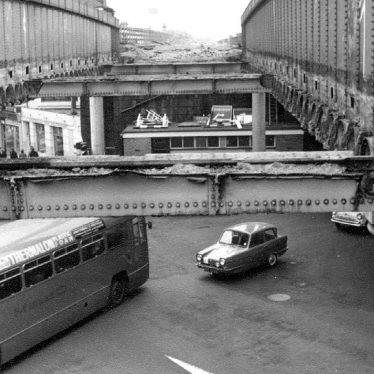 Leamington Spa.  High Street, railway bridges
