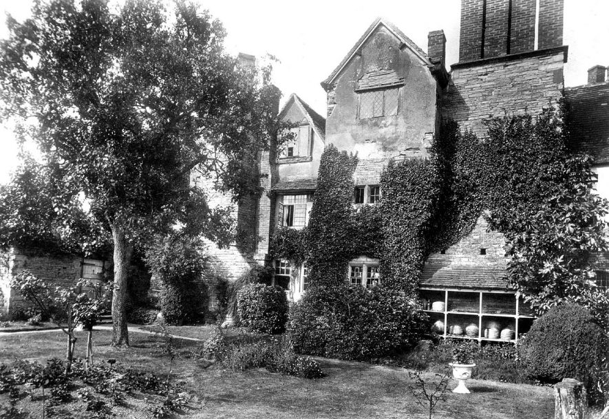 The Nunnery, Abbots Salford, which is now a private house.  1920s |  IMAGE LOCATION: (Warwickshire County Record Office)
