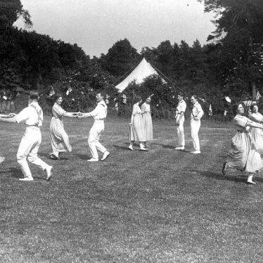 Stratford upon Avon.  Folk dancers