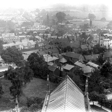 Warwick.  View east from St Mary's Church Tower