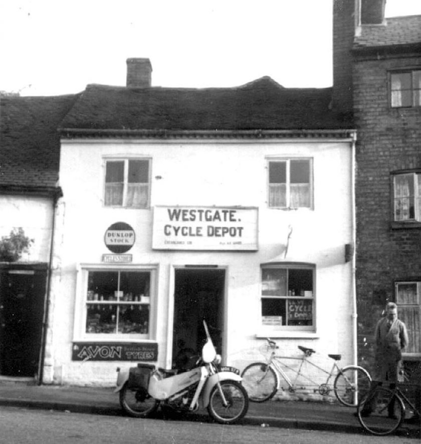 A cycle shop in Friars' Street, Warwick.  1950 |  IMAGE LOCATION: (Warwickshire County Record Office)