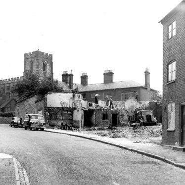 Warwick.  Friars Street, demolition of buildings