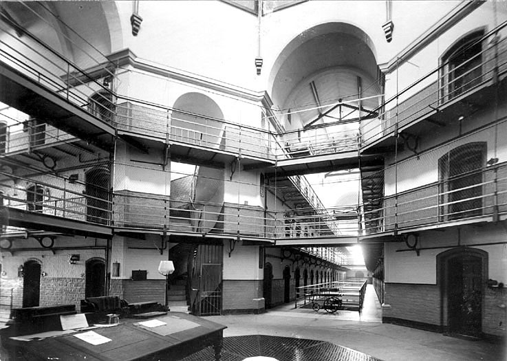 Interior view of Warwick prison.  1906 |  IMAGE LOCATION: (Warwickshire County Record Office)