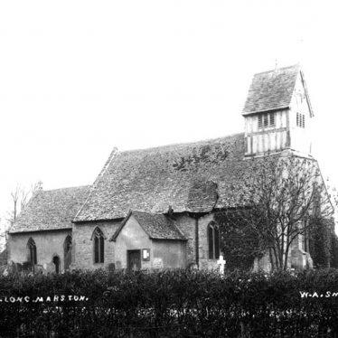 Long Marston Church.  1900s |  IMAGE LOCATION: (Warwickshire County Record Office)