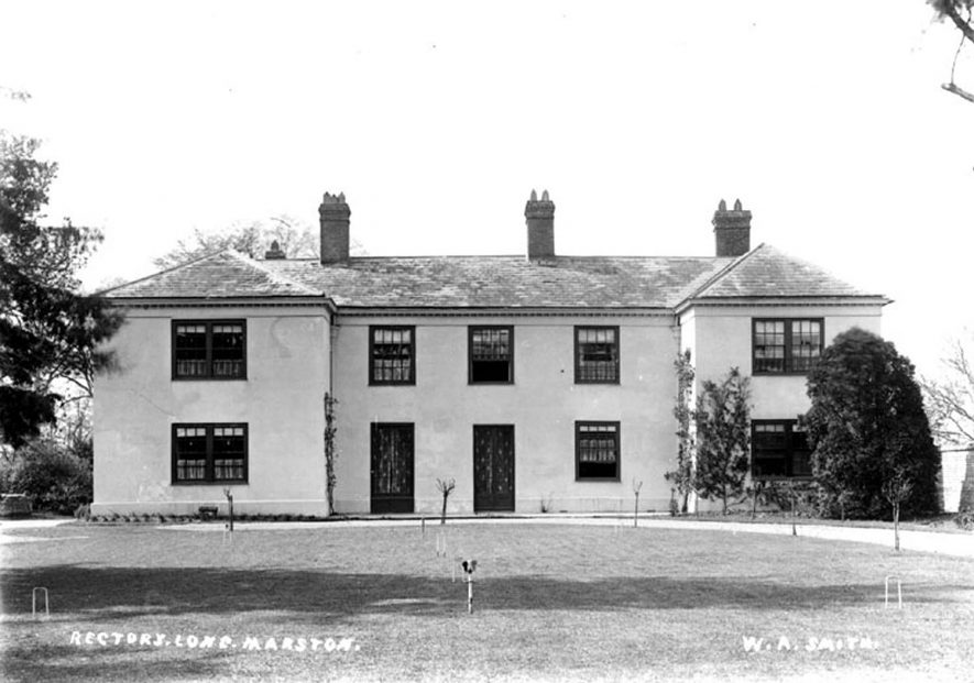 Long Marston Rectory.  1900s |  IMAGE LOCATION: (Warwickshire County Record Office)