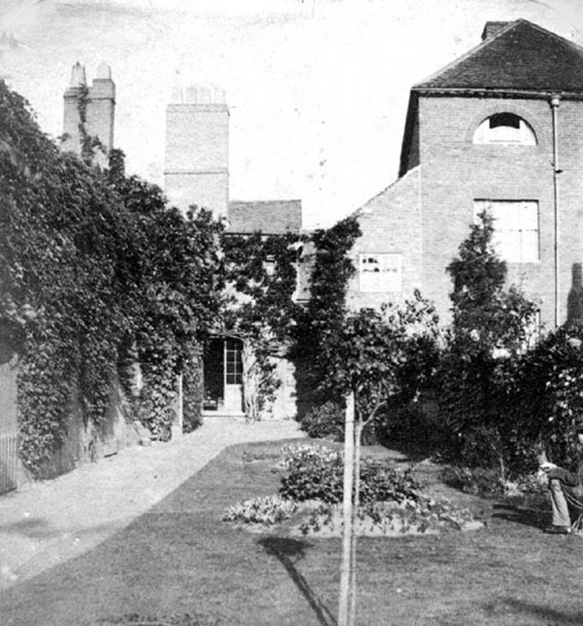 Seymour's house, Lower Church Street now St Nicholas Church Street, Warwick.  1850s    IMAGE LOCATION: (Warwickshire County Record Office)