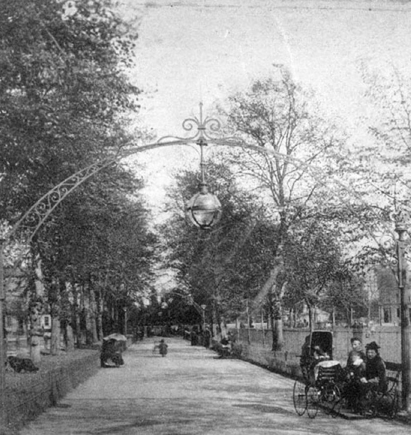 Pump Room Gardens, Leamington Spa.  1890s |  IMAGE LOCATION: (Warwickshire County Record Office)