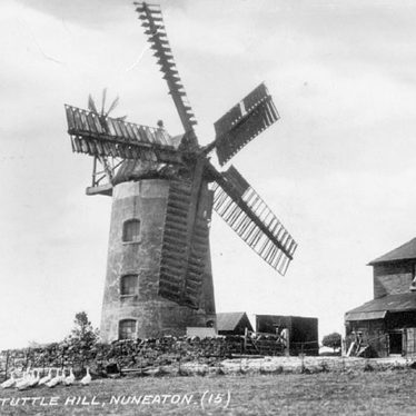 Nuneaton.  Tuttle Hill windmill