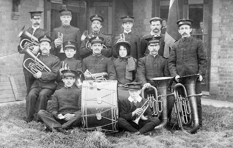 Nuneaton Salvation Army Band.  1907 |  IMAGE LOCATION: (Warwickshire County Record Office)