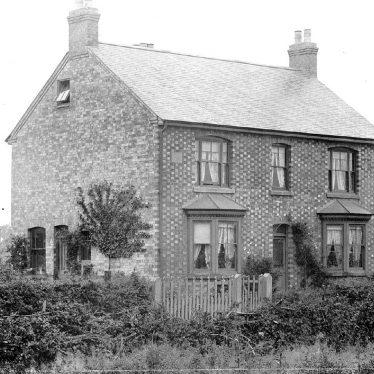 Nuneaton.  Brick and slate house