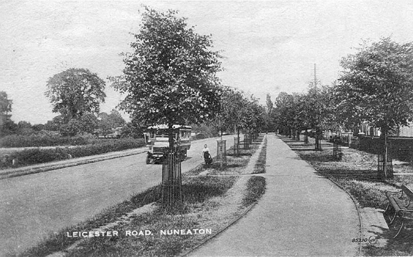 Leicester Road, Nuneaton.  1920    IMAGE LOCATION: (Warwickshire County Record Office)