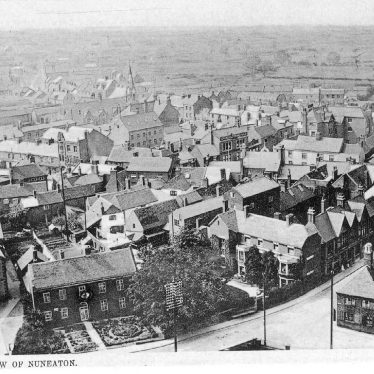 Nuneaton.  Aerial view of the town