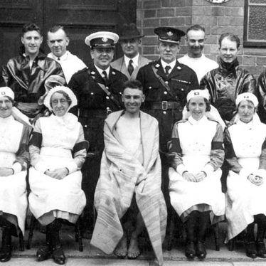 Nuneaton.  Group of health workers