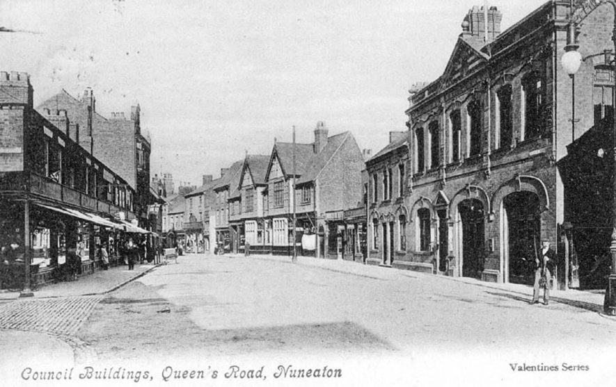 Council buildings in Queens Road, Nuneaton.  1900s |  IMAGE LOCATION: (Warwickshire County Record Office)