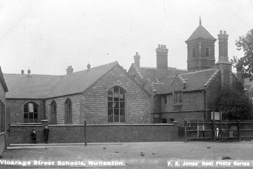 Vicarage Street school buildings, Nuneaton.  1900s |  IMAGE LOCATION: (Warwickshire County Record Office)