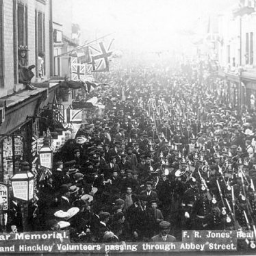 Nuneaton.  March of Nuneaton and Hinckley Volunteers