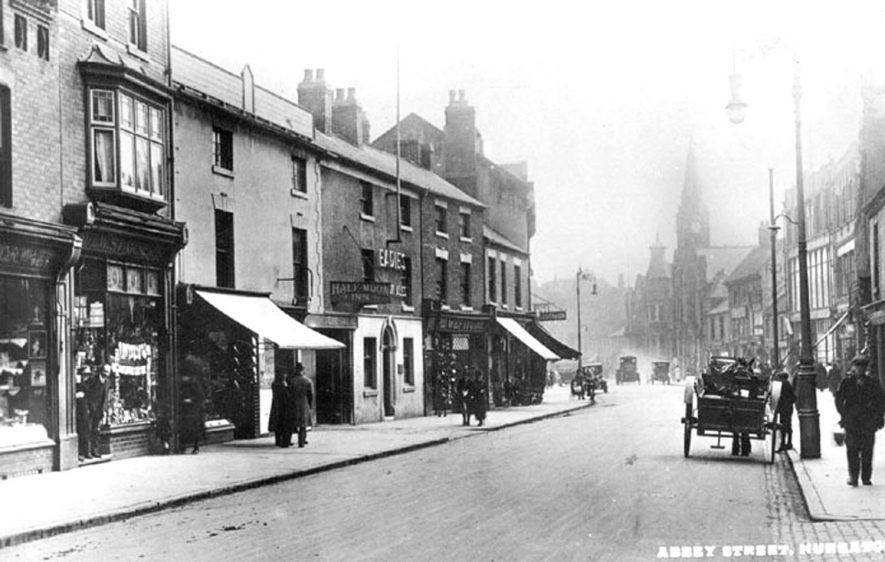 Street scene showing shops on Abbey Street, Nuneaton. 1910s |  IMAGE LOCATION: (Warwickshire County Record Office)