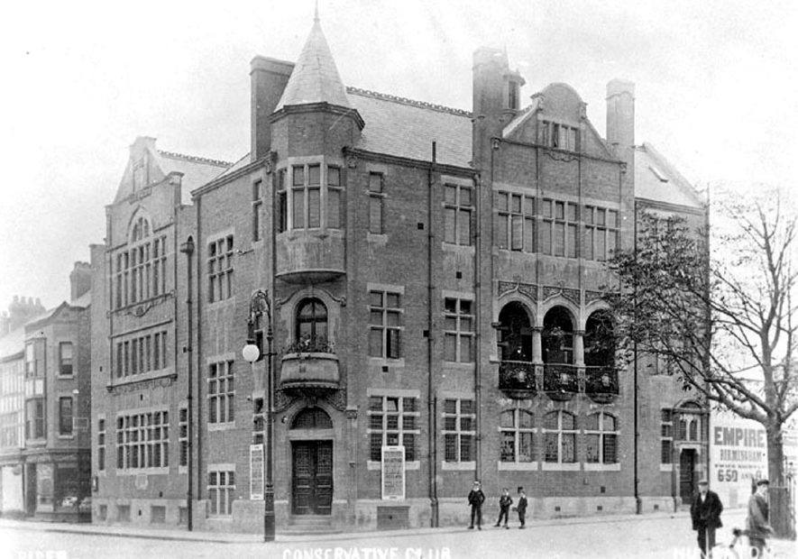 Nuneaton Conservative Club Rooms. Bond Street.  1910s |  IMAGE LOCATION: (Warwickshire County Record Office)