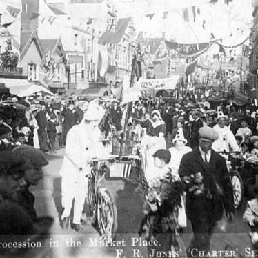 Nuneaton.  Market Place, procession