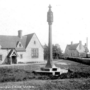 Ufton.  School and ancient cross