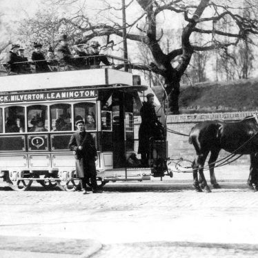 Warwick.  Horse drawn tram