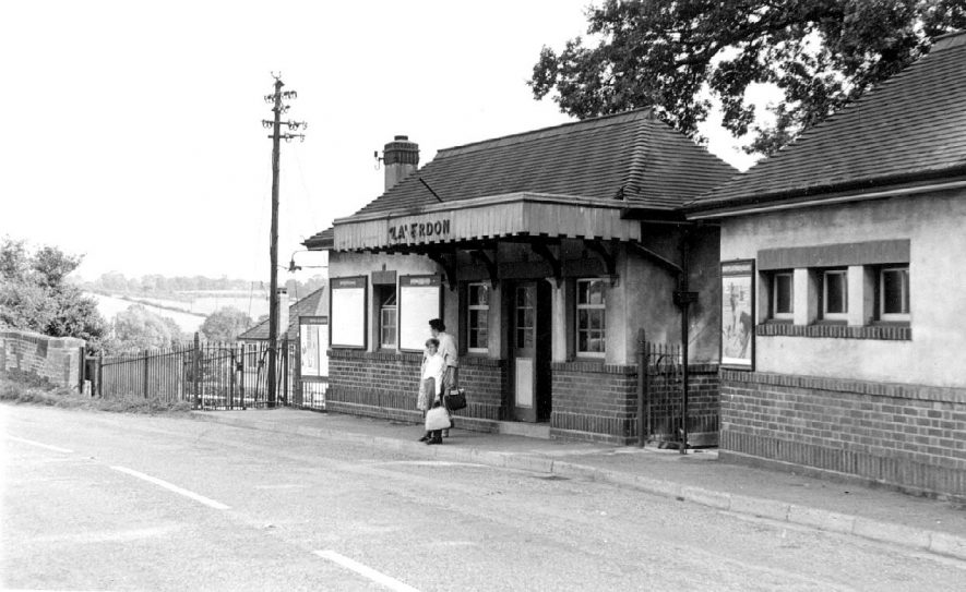 Exterior of Claverdon Station.  1964 |  IMAGE LOCATION: (Warwickshire County Record Office)