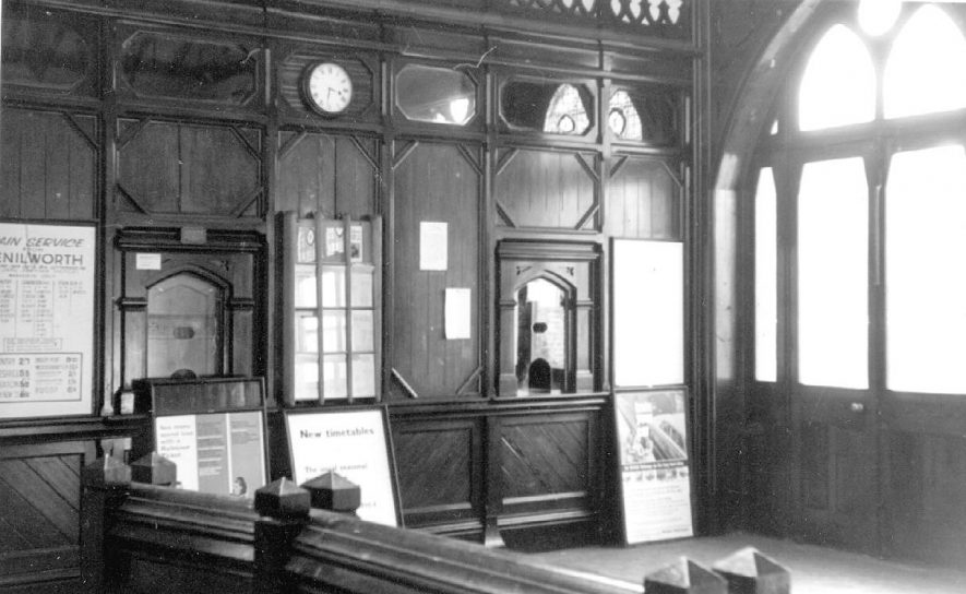 Kenilworth Station booking hall interior.  1964 |  IMAGE LOCATION: (Warwickshire County Record Office)