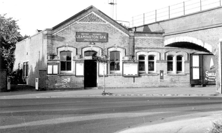 Railway station at Milverton, Leamington Spa exterior of front entrance.  1963 |  IMAGE LOCATION: (Warwickshire County Record Office)