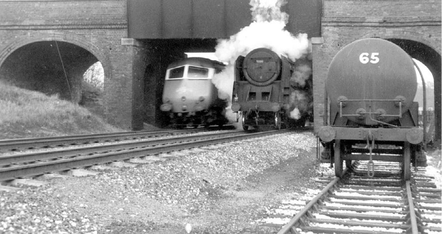 9F class 2-10-0 No. 92160 and Midland Pullman