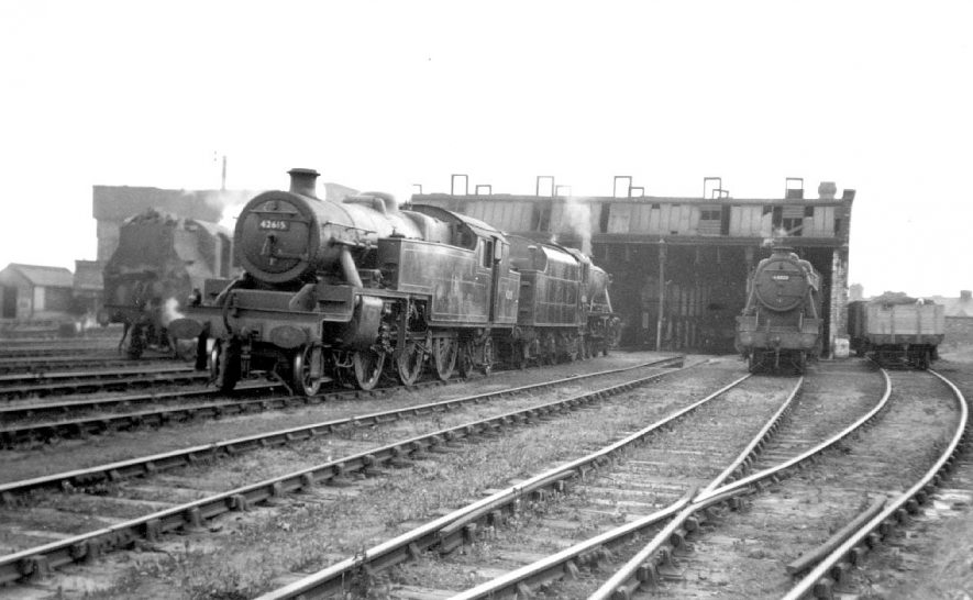 The Milverton locomotive sheds, Leamington Spa.  1958 |  IMAGE LOCATION: (Warwickshire County Record Office)