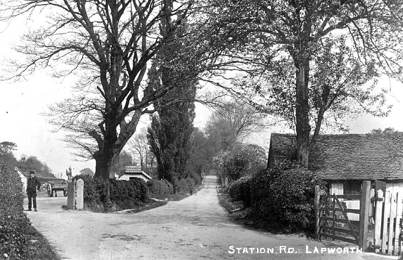 Station Road Lapworth, showing  the entrance to the sidings with the office of T.H. Truelove, Coal Merchant.  1910s |  IMAGE LOCATION: (Warwickshire County Record Office)