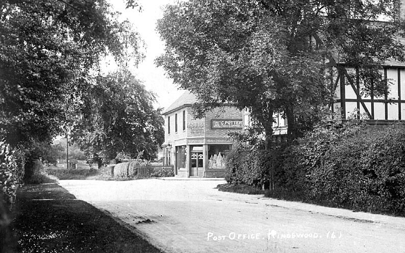 C. Potterton, Post Office and village stores.  1920s |  IMAGE LOCATION: (Warwickshire County Record Office)
