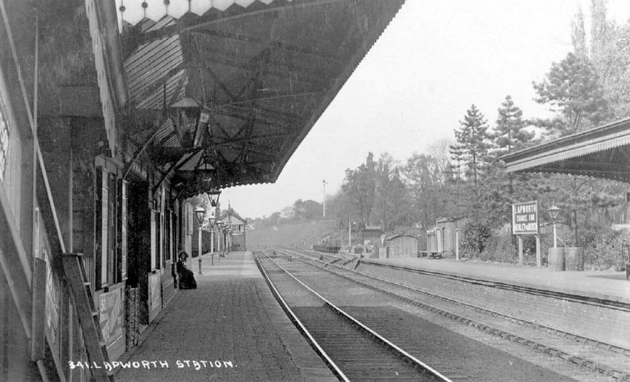 View of the railway station at Lapworth.  1900s |  IMAGE LOCATION: (Warwickshire County Record Office)